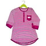 YANA Blouse Salur 7/8 [03BS] - Kombinasi Pink - Blouse dan Tunik Wanita